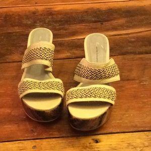 Anthropoligie Pilcro and the Letterpress sandals